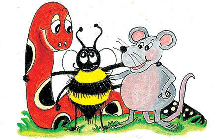 Inky-Snake-and-Bee-Friends