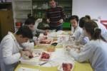 Práctica de Biología con los alumnos de 1.º de Bachillerato
